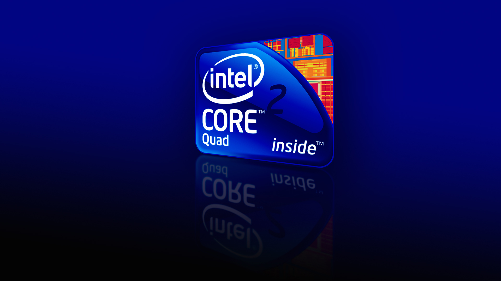 Intel core 2 quad core i7 logo 1080p wallpapers Rumah IT 1920x1080