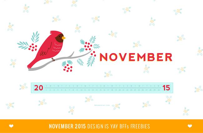 BFF FREEBIES: November 2015 Wallpaper Calendar | DESIGN IS YAY!