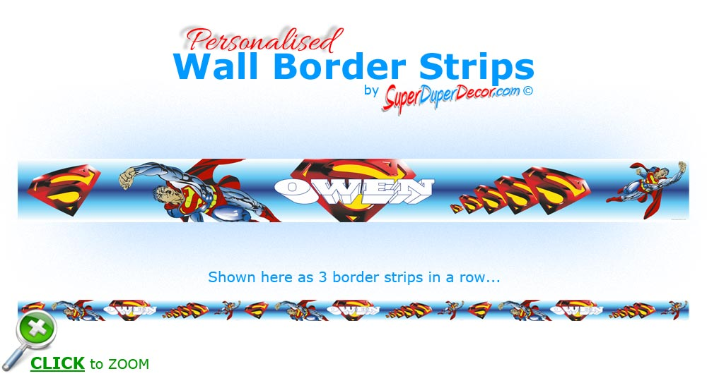 WALL BORDER STRIPS children boys bedroom wallpaper borders eBay 1000x550