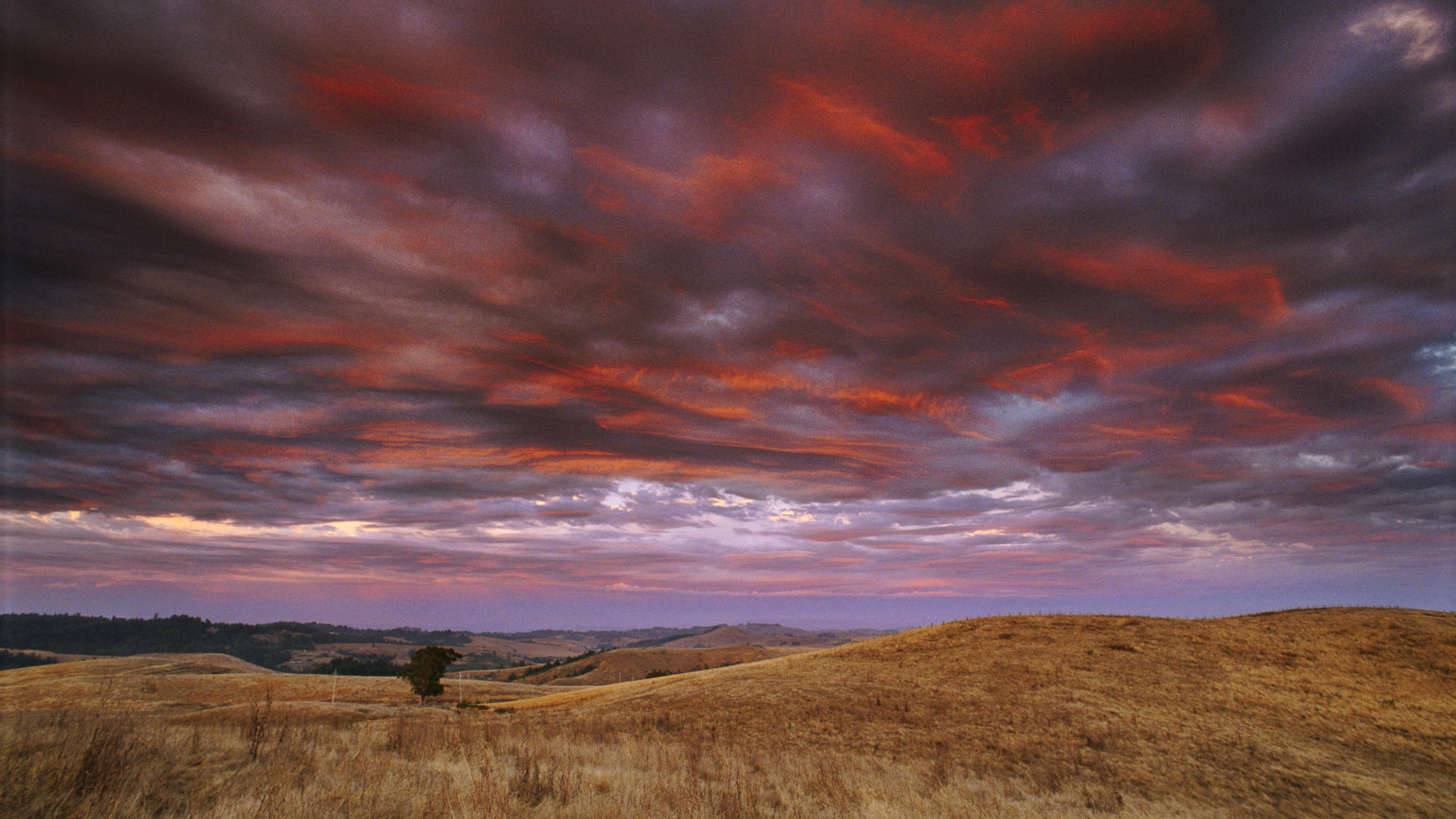 county wallpaper thunder fire sunset after storm sonoma 1920x1080