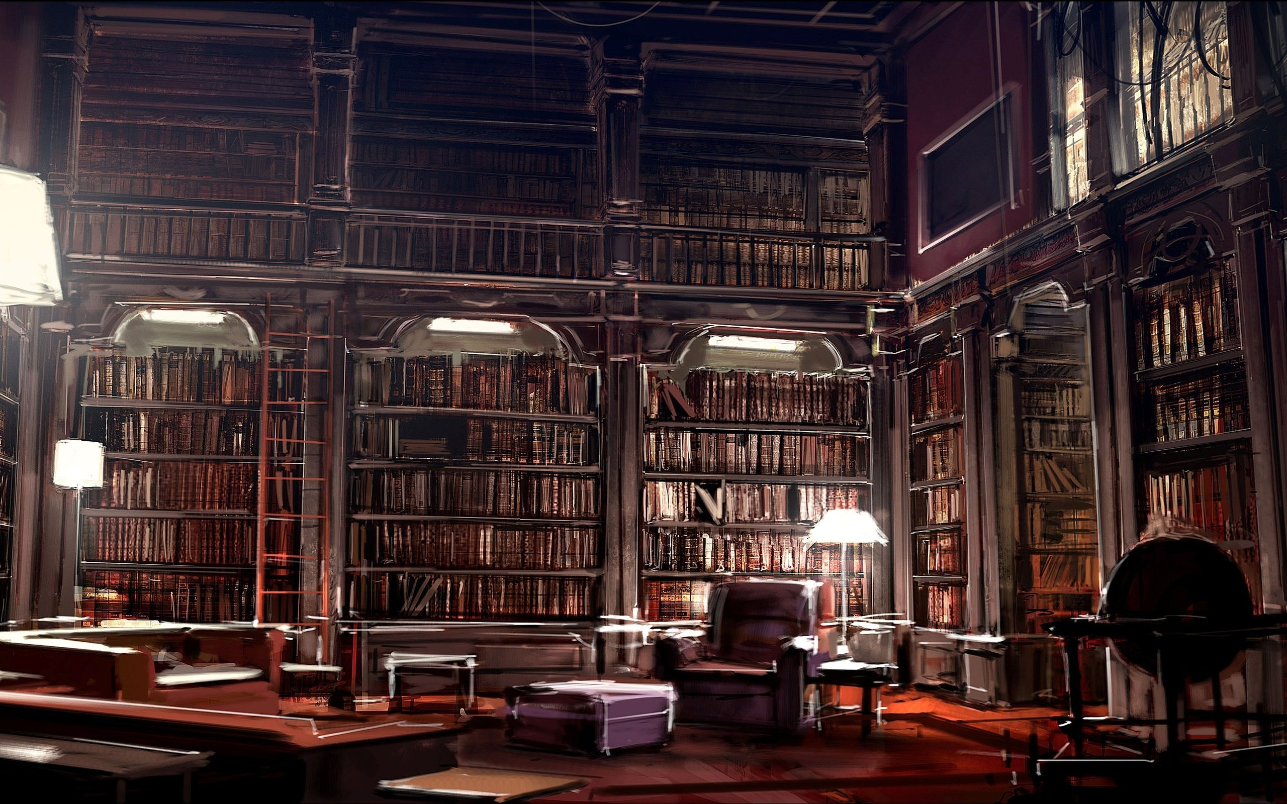 Books wallpapers 2560x1600