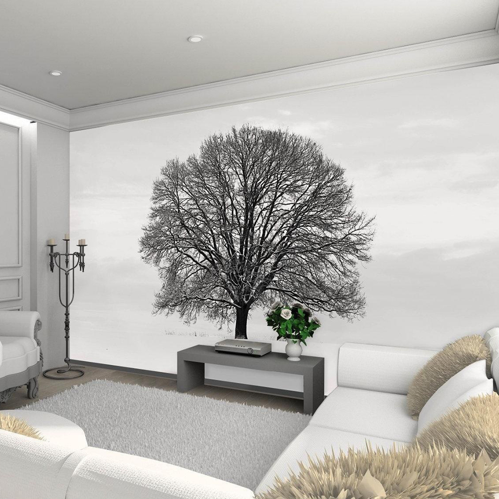 Black and White Tree Giant Wallpaper Mural Peters of Kensington 1000x1000