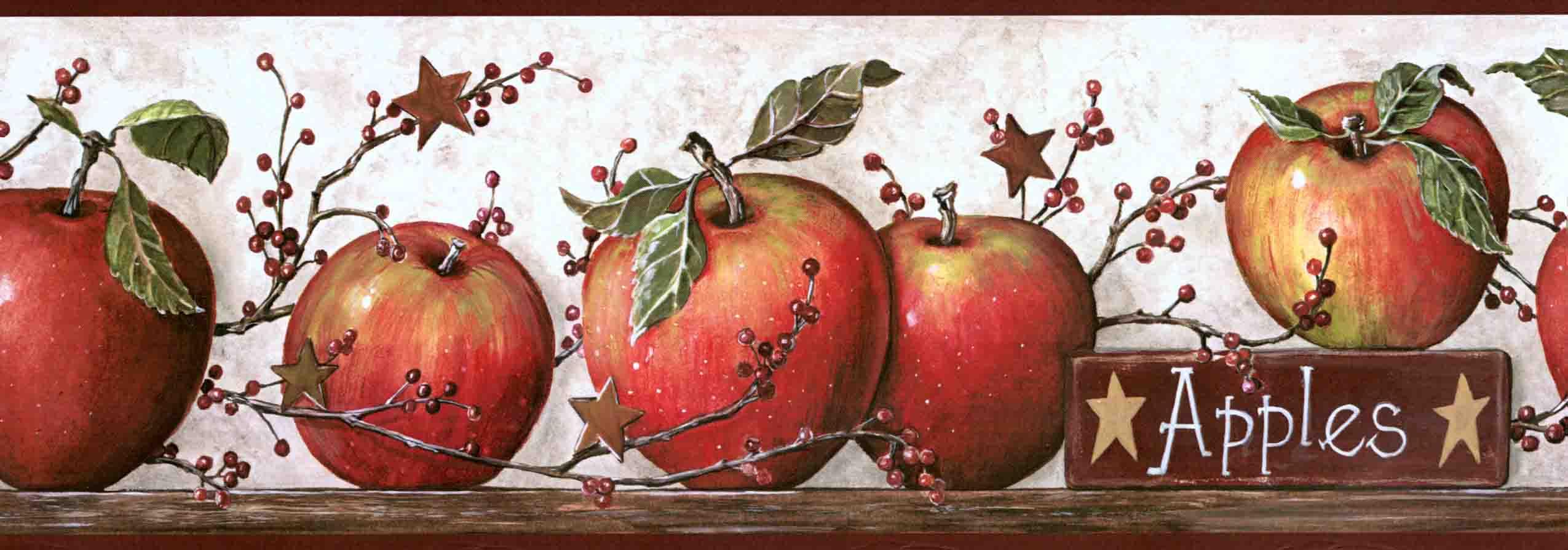Apples Wall Border KE4914BDB   Wallpaper Border Wallpaper inccom 2550x895