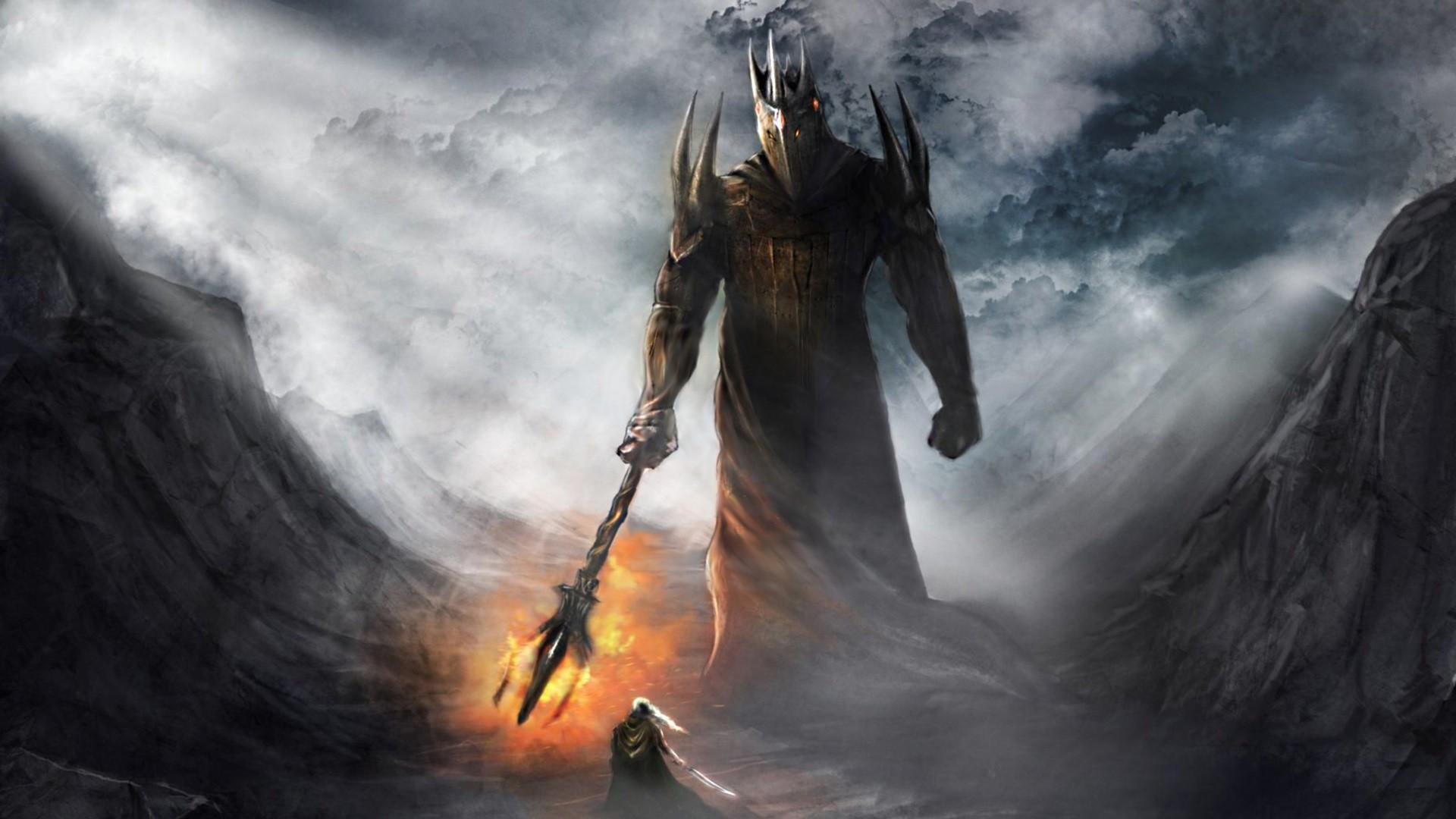 Warriors silmarillion jrr tolkien gods morgoth fingolfin wallpaper 1920x1080