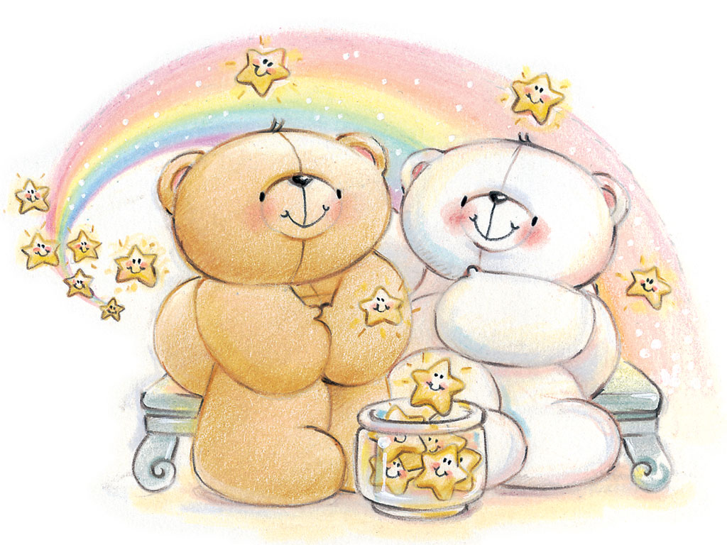 Cartoon Bear Cute Forever Friends Wallpapers 1024x768