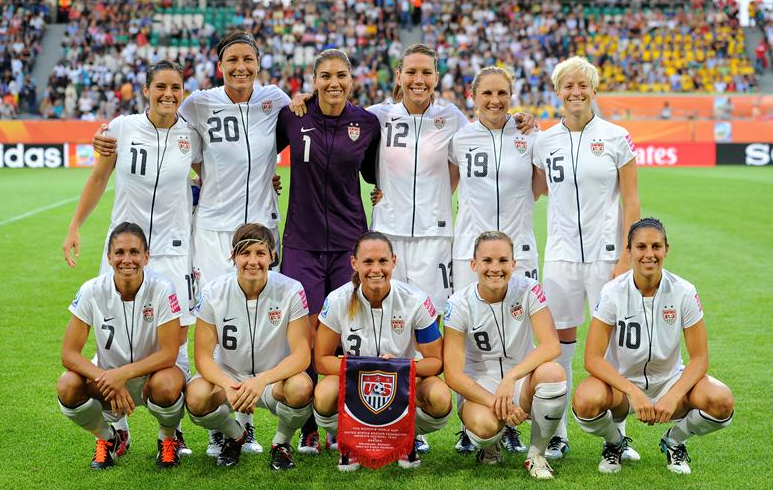Part of the 2011 USA Womens World Cup Soccer Team 773x490