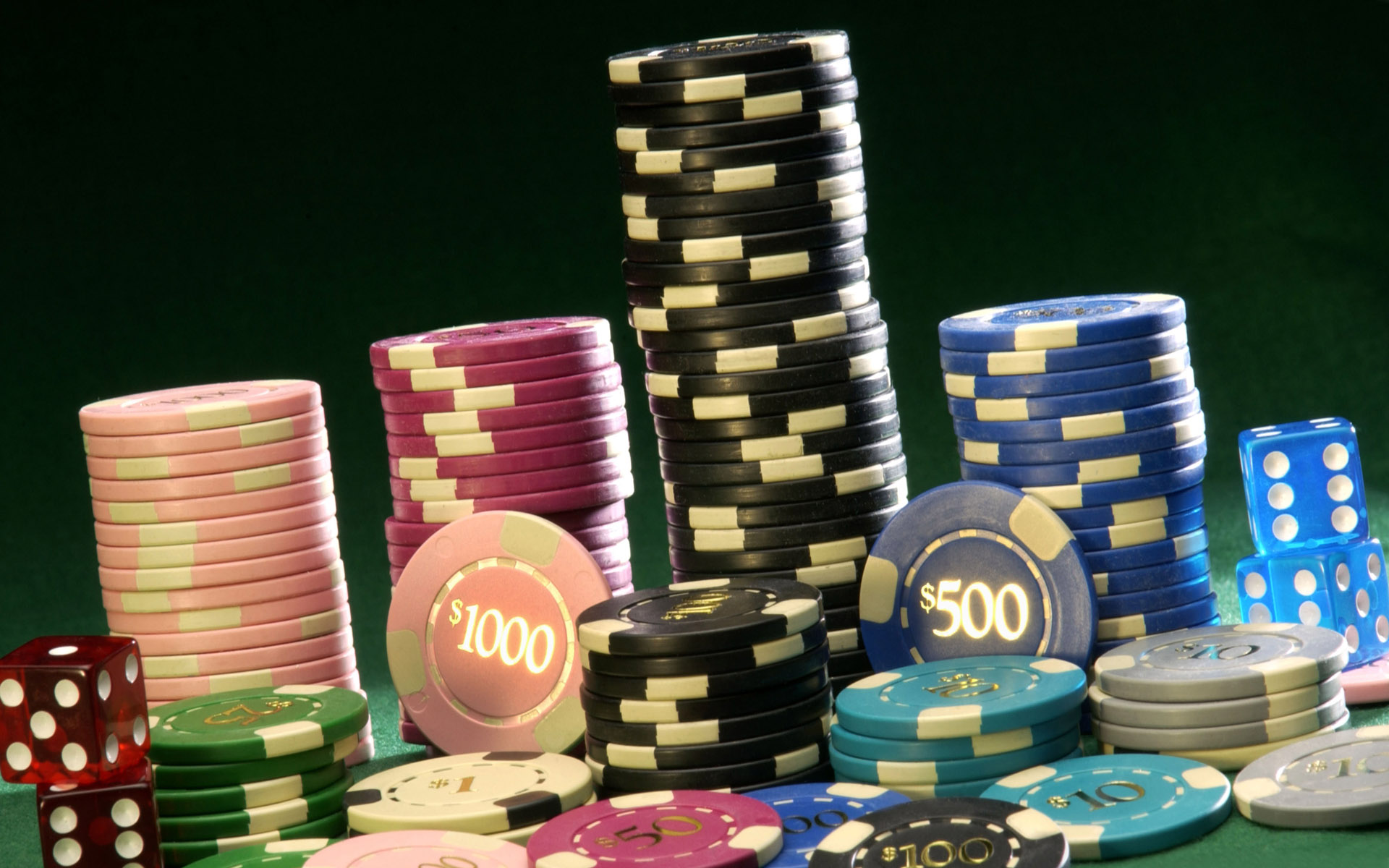 of Poker Chips Wallpapers Stack of Poker Chips Myspace Backgrounds 1920x1200