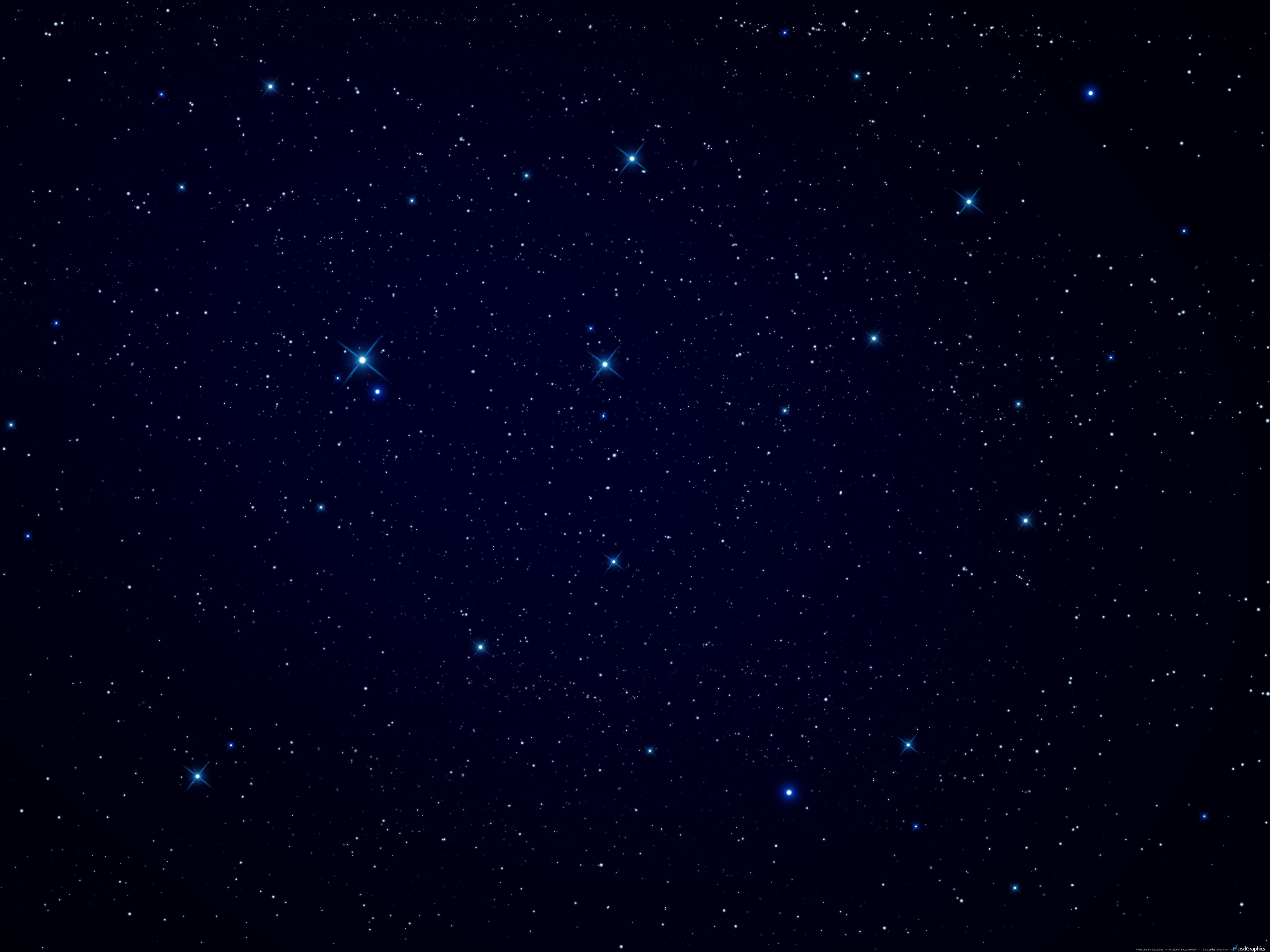Blue Night Sky Wallpap...