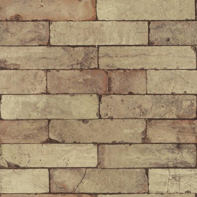 Stone Pattern Brick Wall Faux Effect Textured Mural Wallpaper 446388 665x665