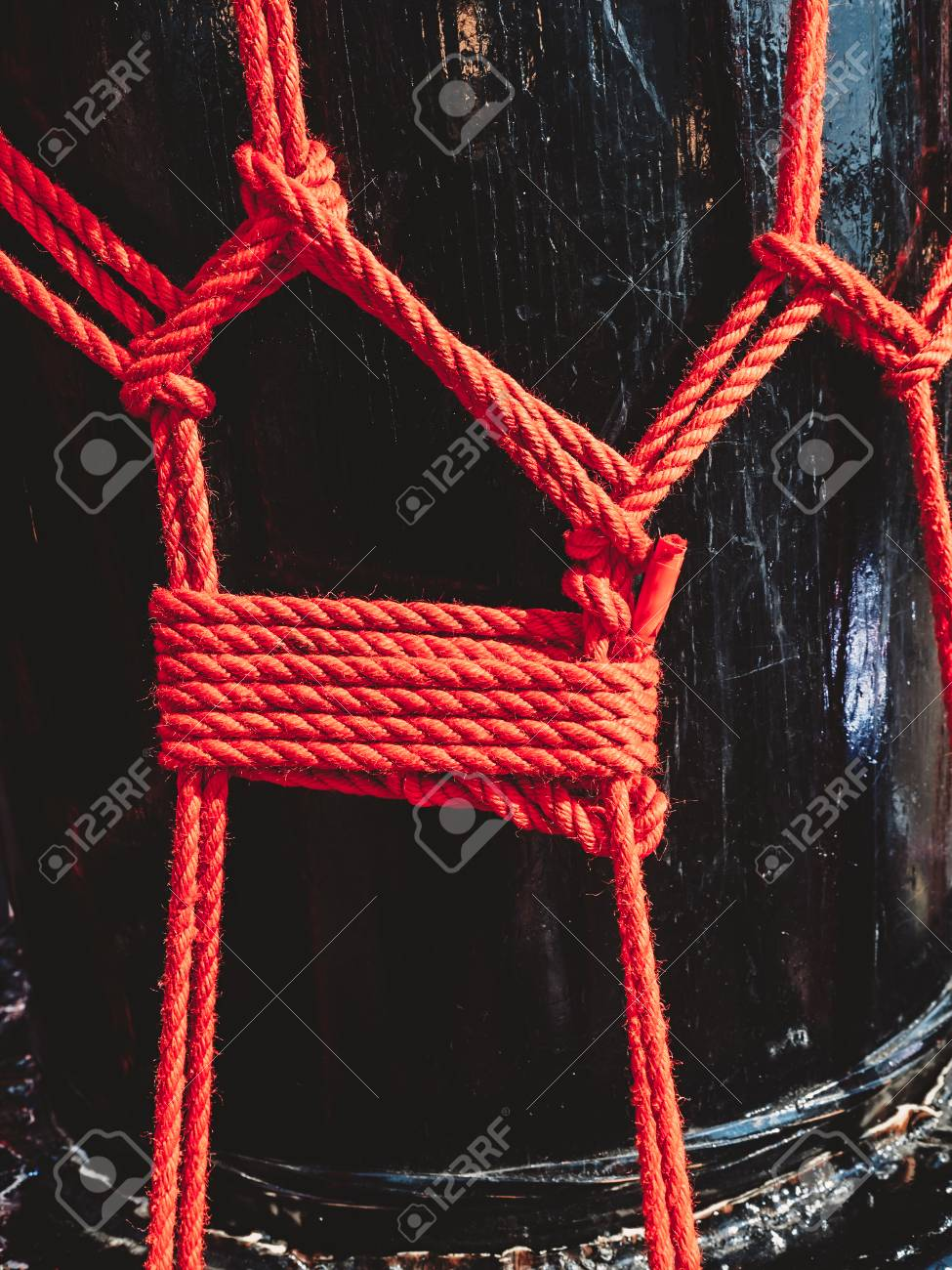 Knots From Red Ropes Of Taiko Drums O kedo Background Musical 975x1300