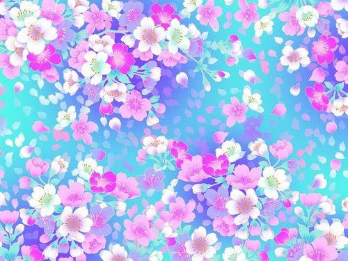 Pretty Blue Wallpapers Tumblr Wallpaper beautiful blue flowery pretty 500x375