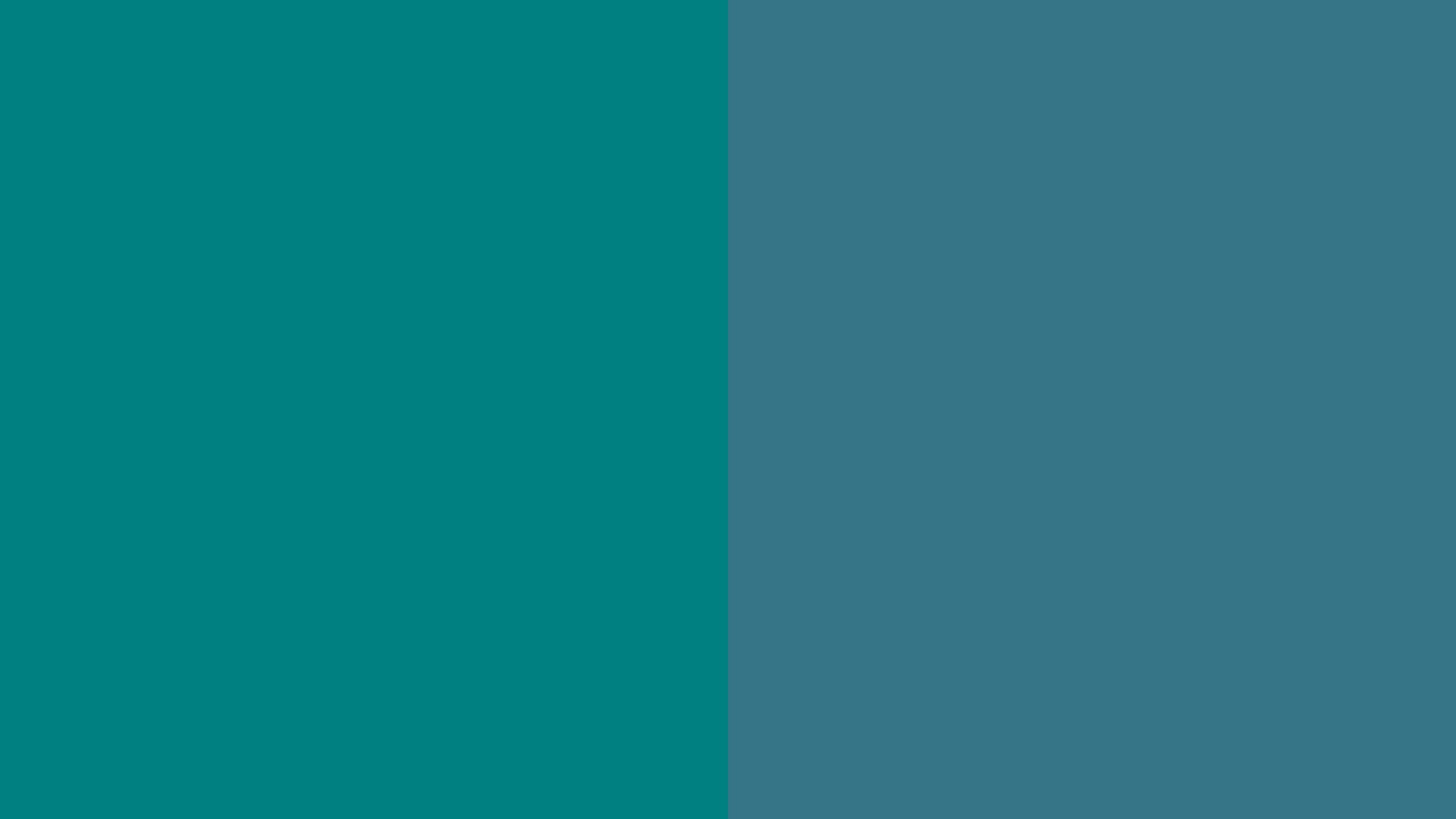 2560x1440 resolution Teal and Teal Blue solid two color background 2560x1440