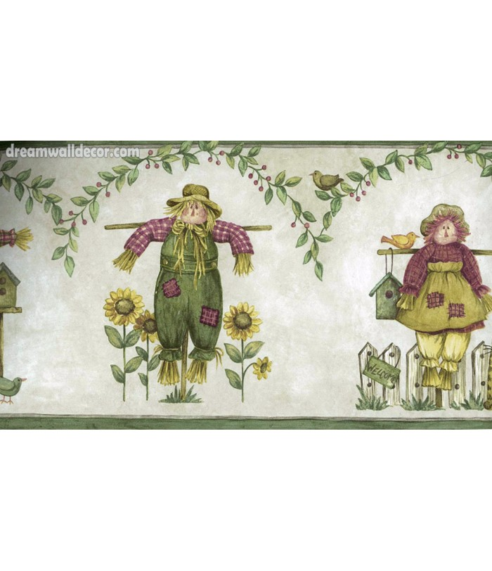 Sunflower Farm Toys Wallpaper Border 700x812