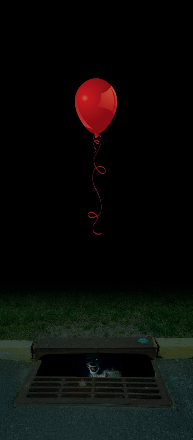 Pennywise Red Balloon and Sewer Drain Door wrap in 2019 798x1822