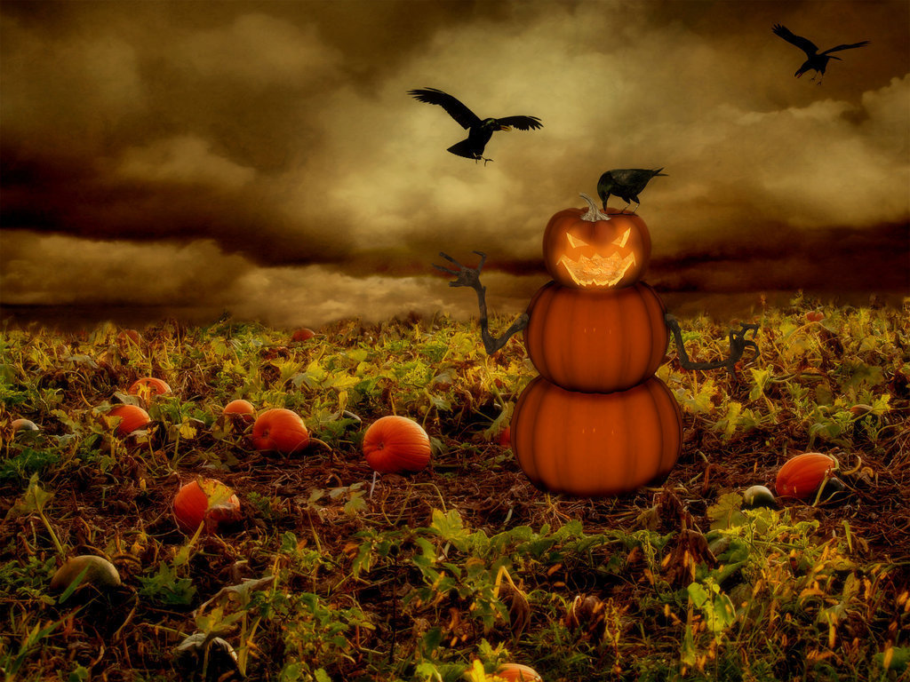 Wallpapers Angry Halloween Pumpkin Wallpapers Angry Pumpkin Face 1024x768