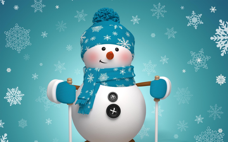 Snowman Art Widescreen Wallpaper 52525 2880x1800px 2880x1800
