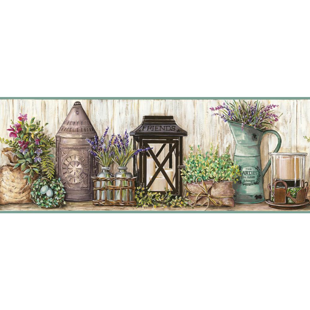 Country Keepsakes Garden Border Wallpaper 1000x1000