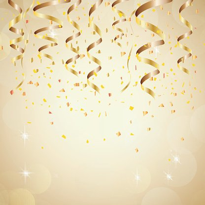 Happy New Year Background With Golden Confetti stock 416x416