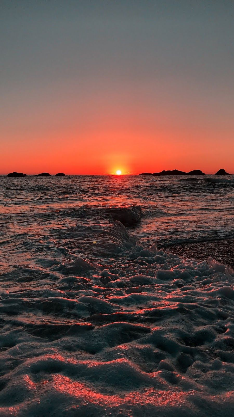 Beach sunset android wallpaper la naturaleza Fondos 900x1600