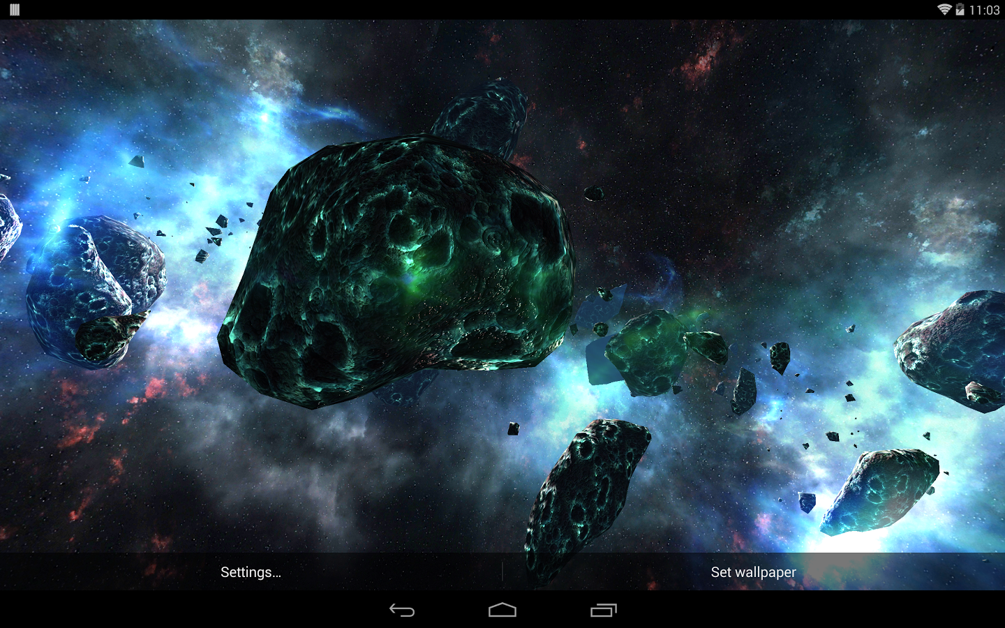 ASTEROIDS PACK 3D Android 1440x900