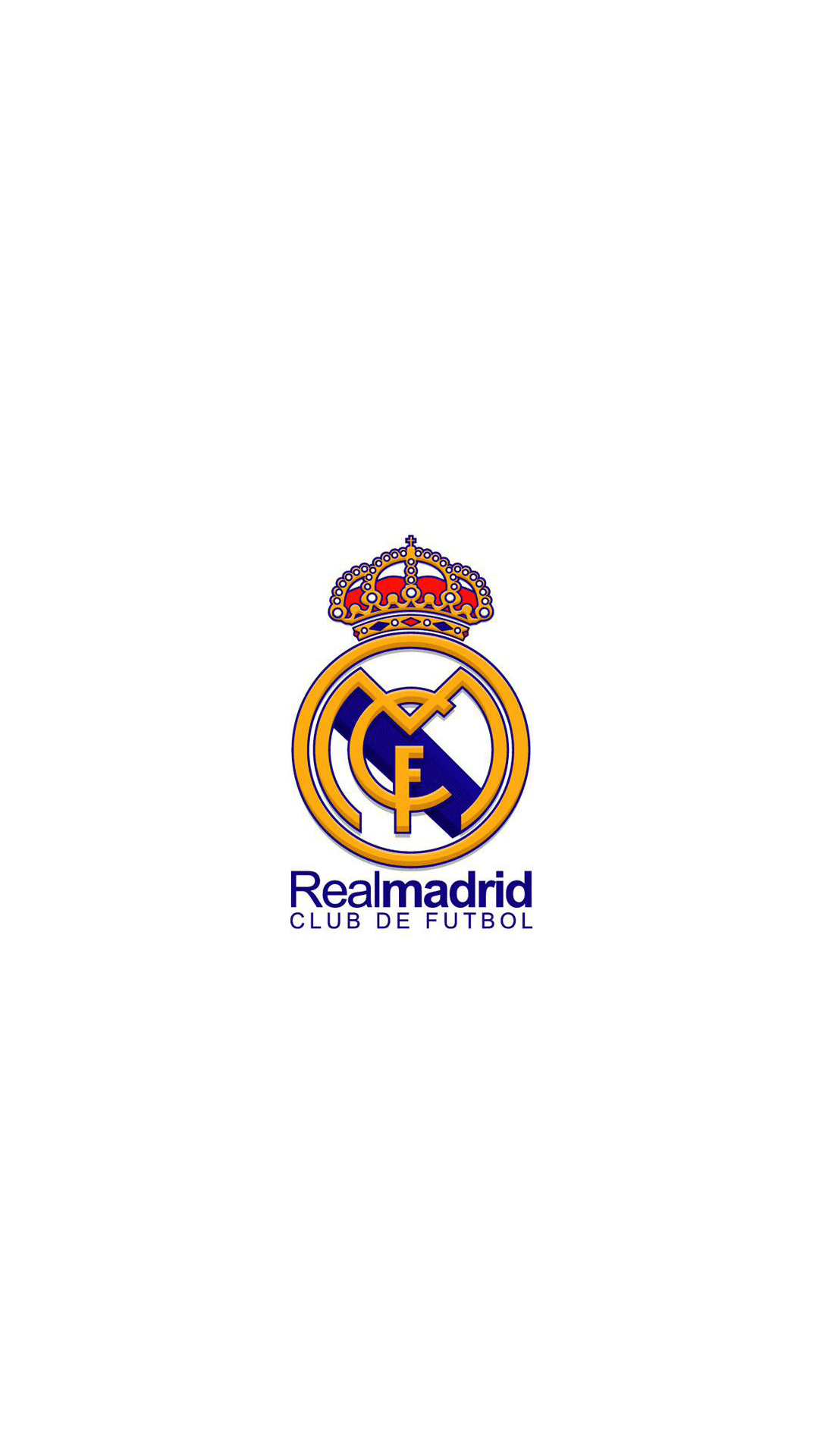 iPhone 6 Plus HD Wallpaper Real Madrid Logo in white background 1080x1920