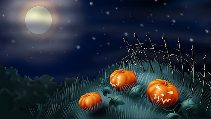 50 Best Halloween Backgrounds for Download 700x394