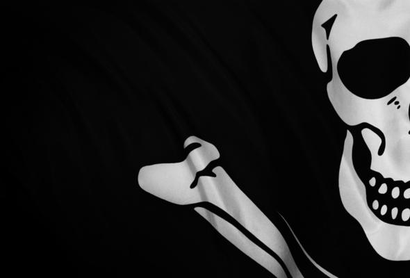 Wallpaper jolly roger pirate emblem flag skull bones desktop 590x400