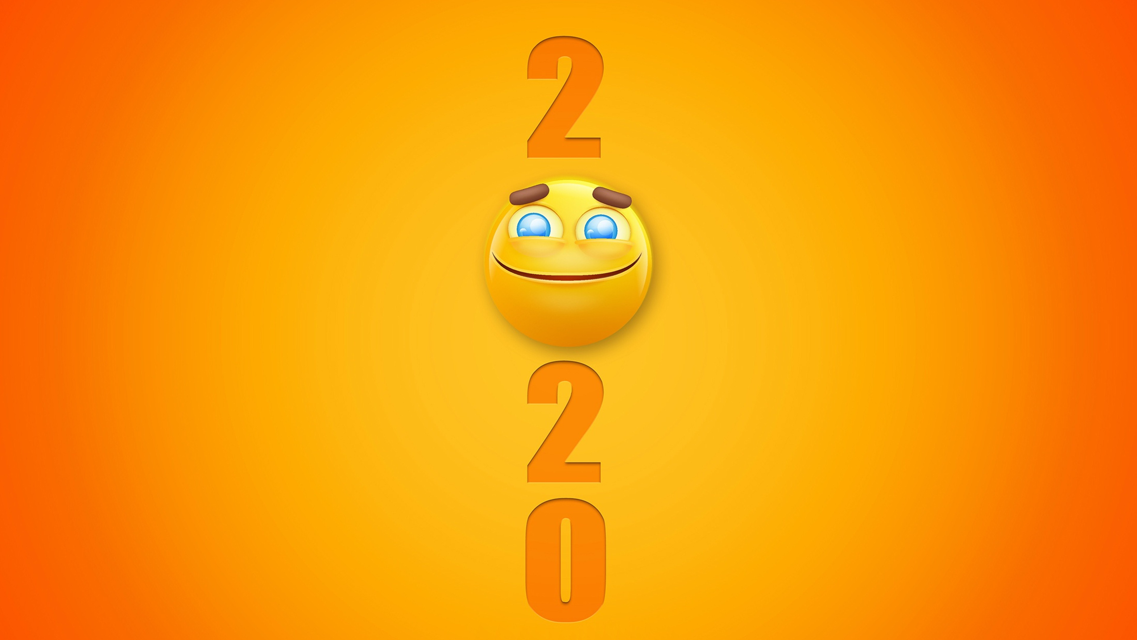 Happy New Year Smiley 2020 4K Wallpaper 6993   Baltana 3840x2160