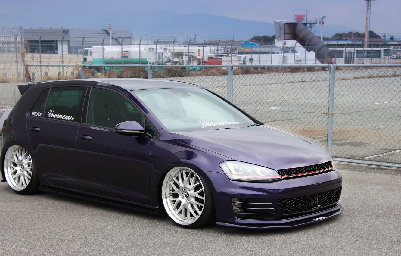 Wallpaper volkswagen wheels Golf golf tuning germany low 1332x850