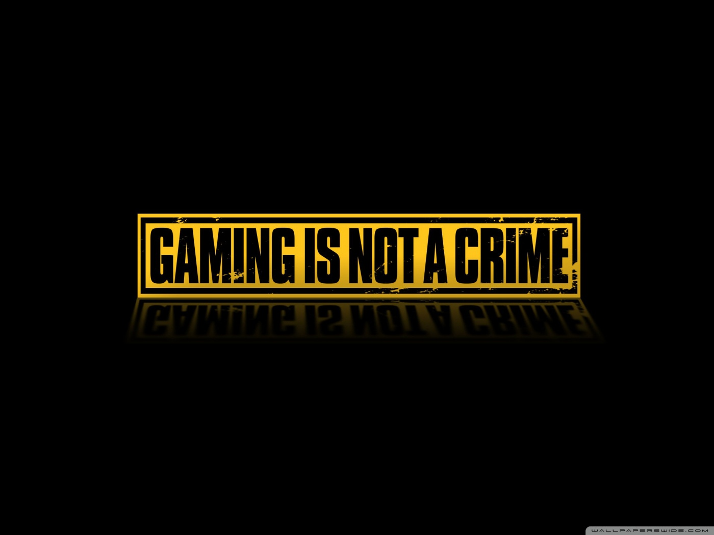 Gaming Is Not A Crime 4K HD Desktop Wallpaper for 4K Ultra HD 1400x1050