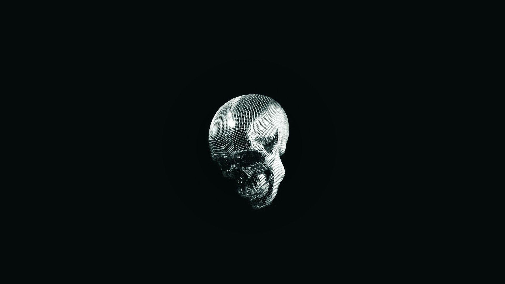 Skull Black Background - WallpaperSafari