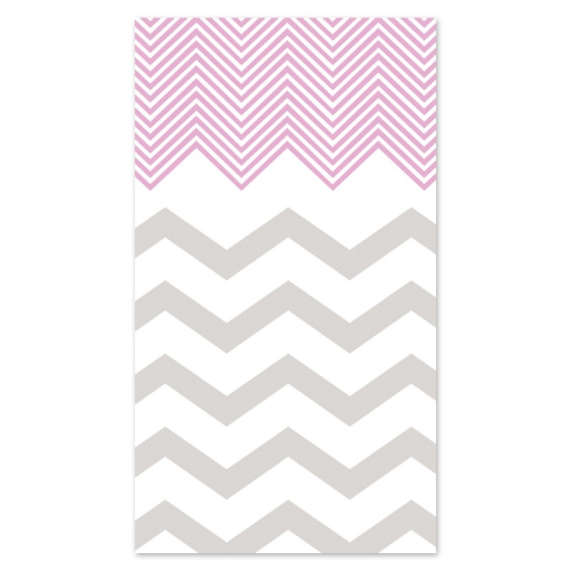 Pink Chevron Personalized iPhone Wallpaper
