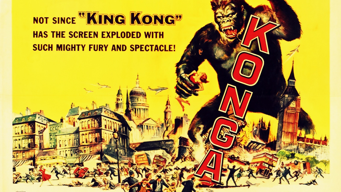 1366x768 Vintage Cinema Konga desktop PC and Mac wallpaper 1366x768