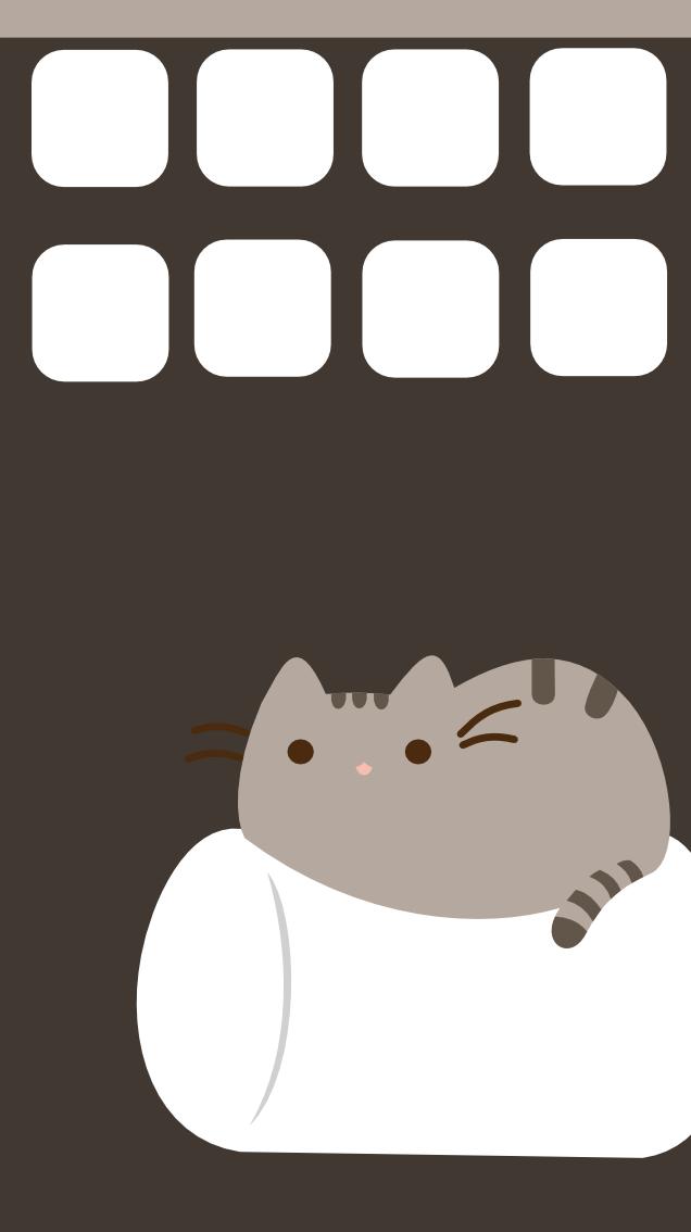 Pusheen iphone 5 wallpaper by SymphonicFire 636x1134