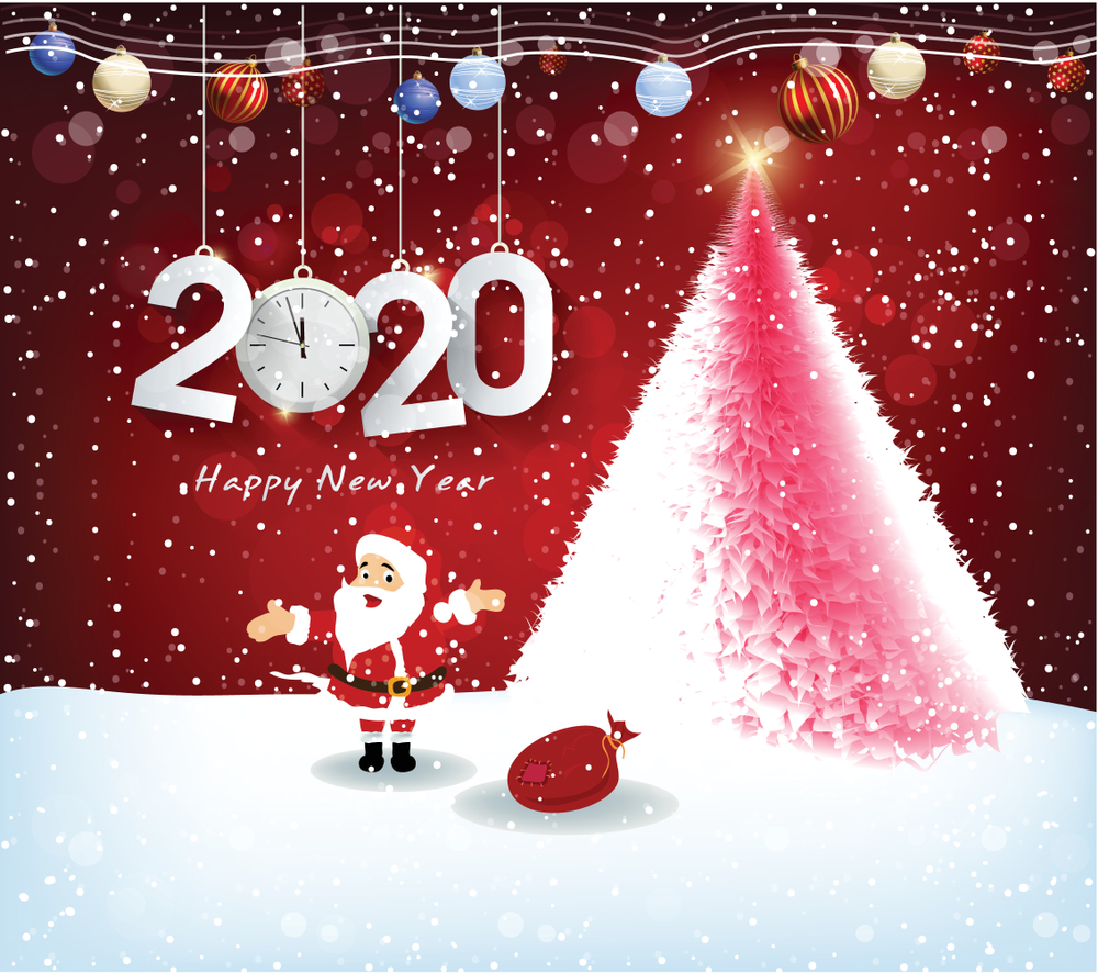 Merry Christmas and Happy New Year 2020 Wishes   HappyNewYear2020 1000x886
