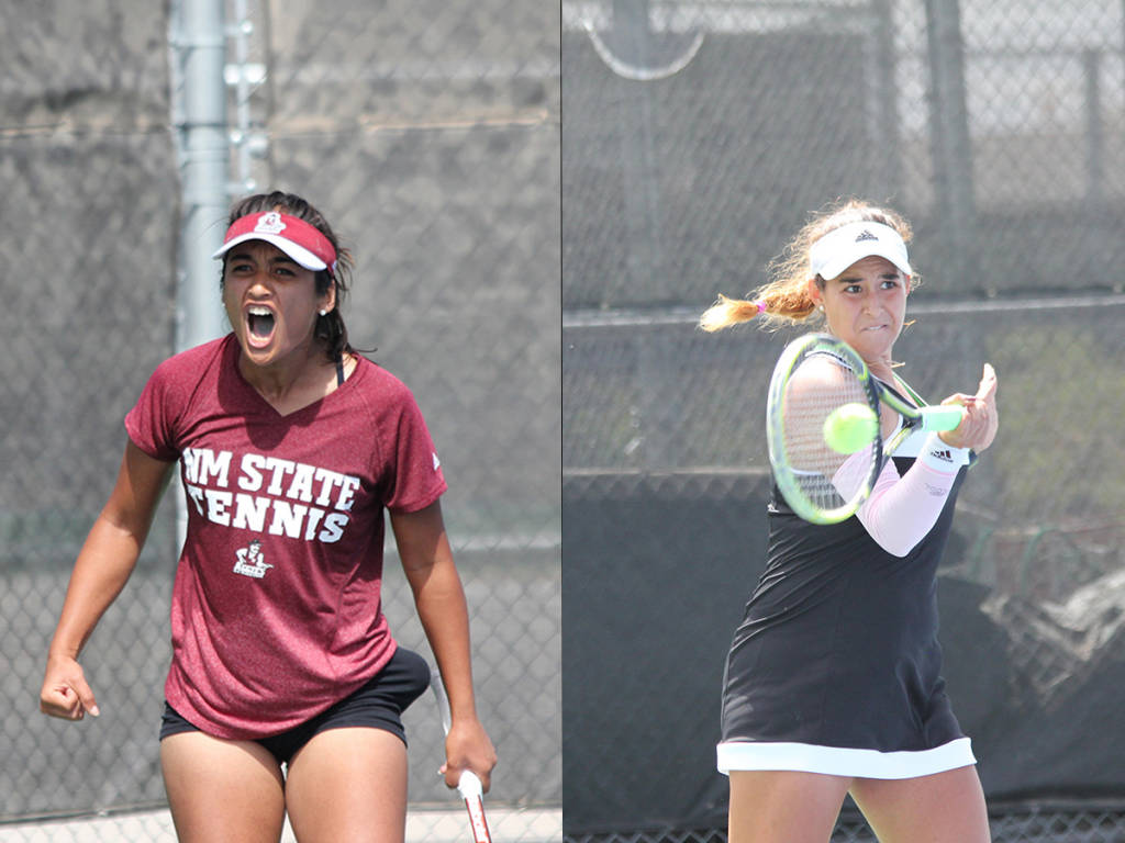 New Mexico State Athletics   NM State Womens Tennis Win First WAC 1024x768