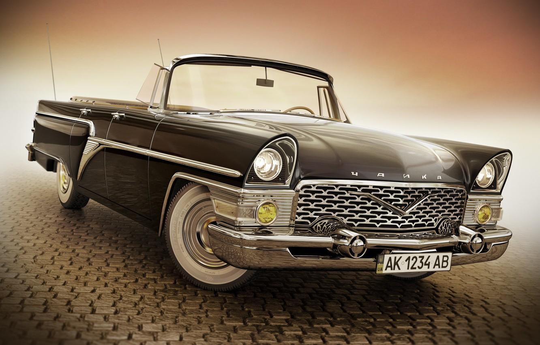 Wallpaper retro car GAZ 13 Chaika images for desktop section 1332x850