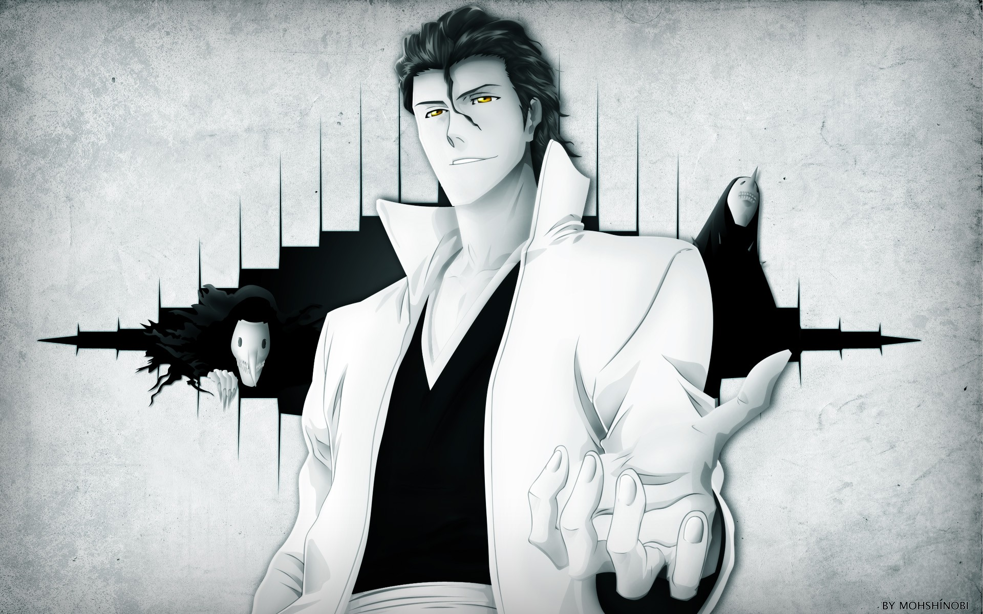 Bleach Aizen Cartoon HD Background Image for Nexus 6   Cartoons 1920x1200