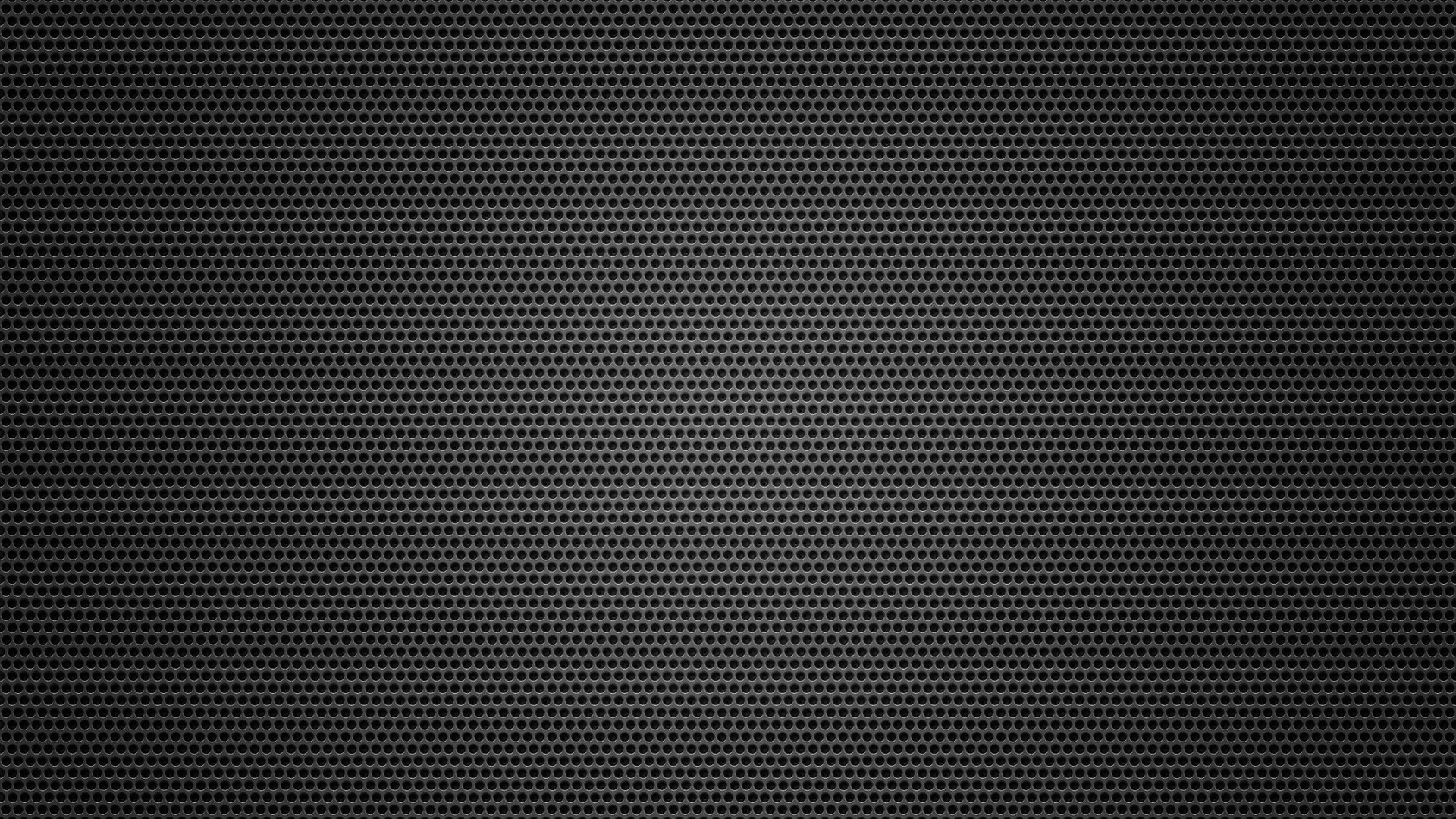 Download Wallpaper 3840x2160 mesh metal circles dark surface 4K 3840x2160