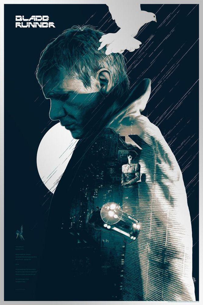 Blade Runner by Gabz FOIL Variant Print BNG NYCC 2018 Mondo Artist 667x1000