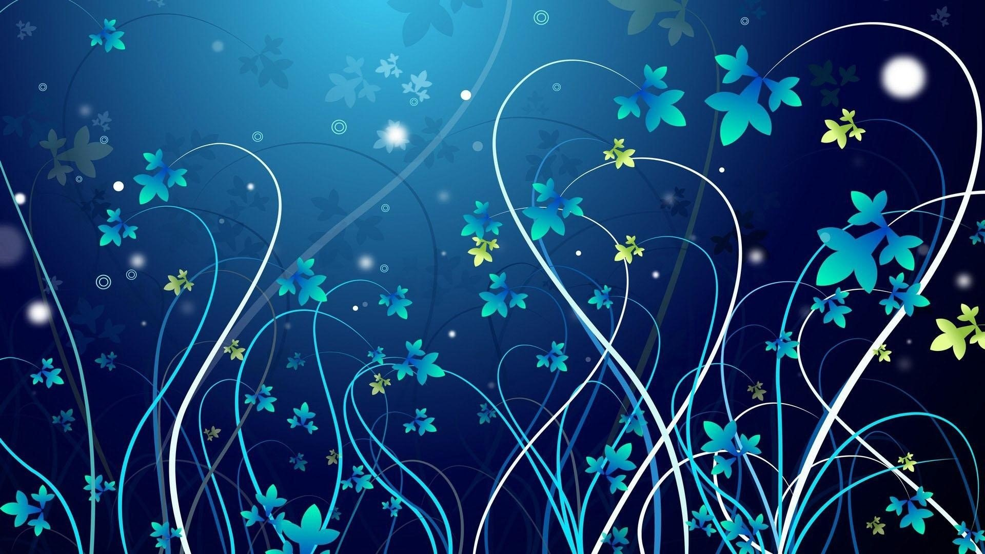 Beautiful Blue Vectors Wallpapers HD Wallpapers 1920x1080
