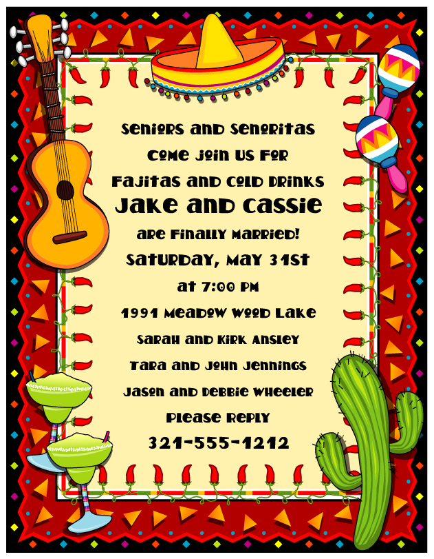 Mexican Fiesta Border Mexican party paper   no 631x811