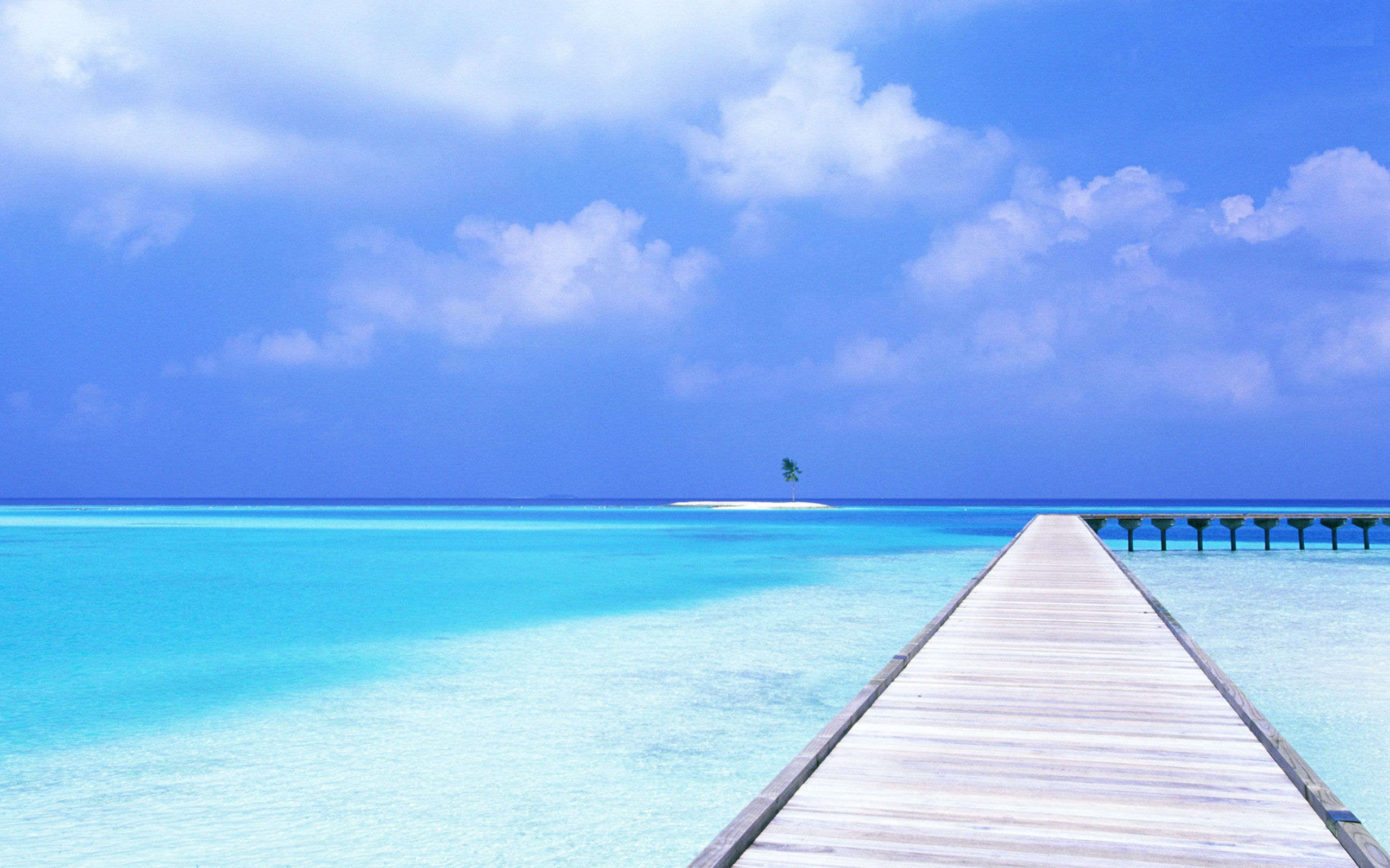 Crystal Blue Tropical Ocean Wallpaper Picture 2560x1600