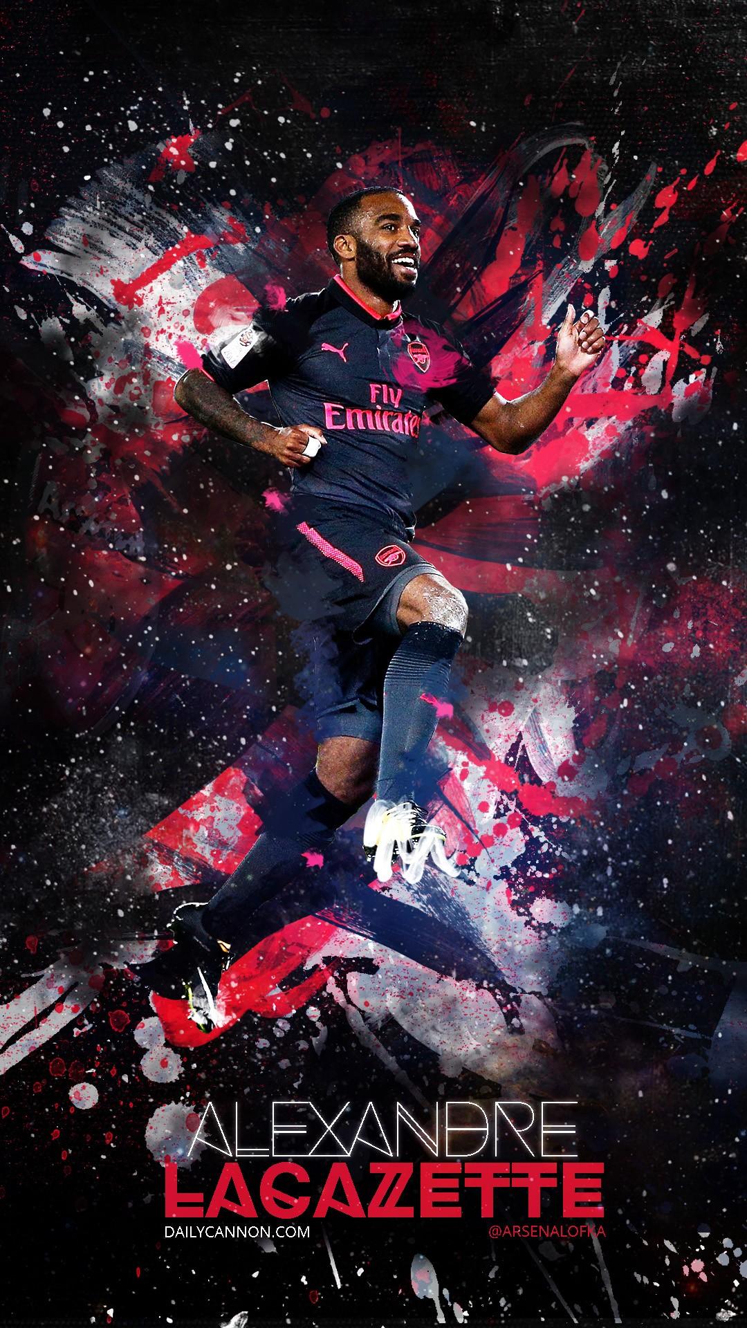 Alexandre Lacazette Arsenal iPhone Wallpaper 2019 3D iPhone 1080x1920