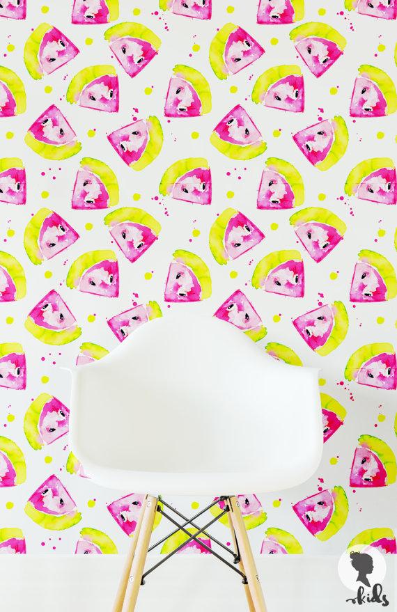 Self Adhesive Removable Wallpaper Watermelon L025 by LivettesKIDS 570x879