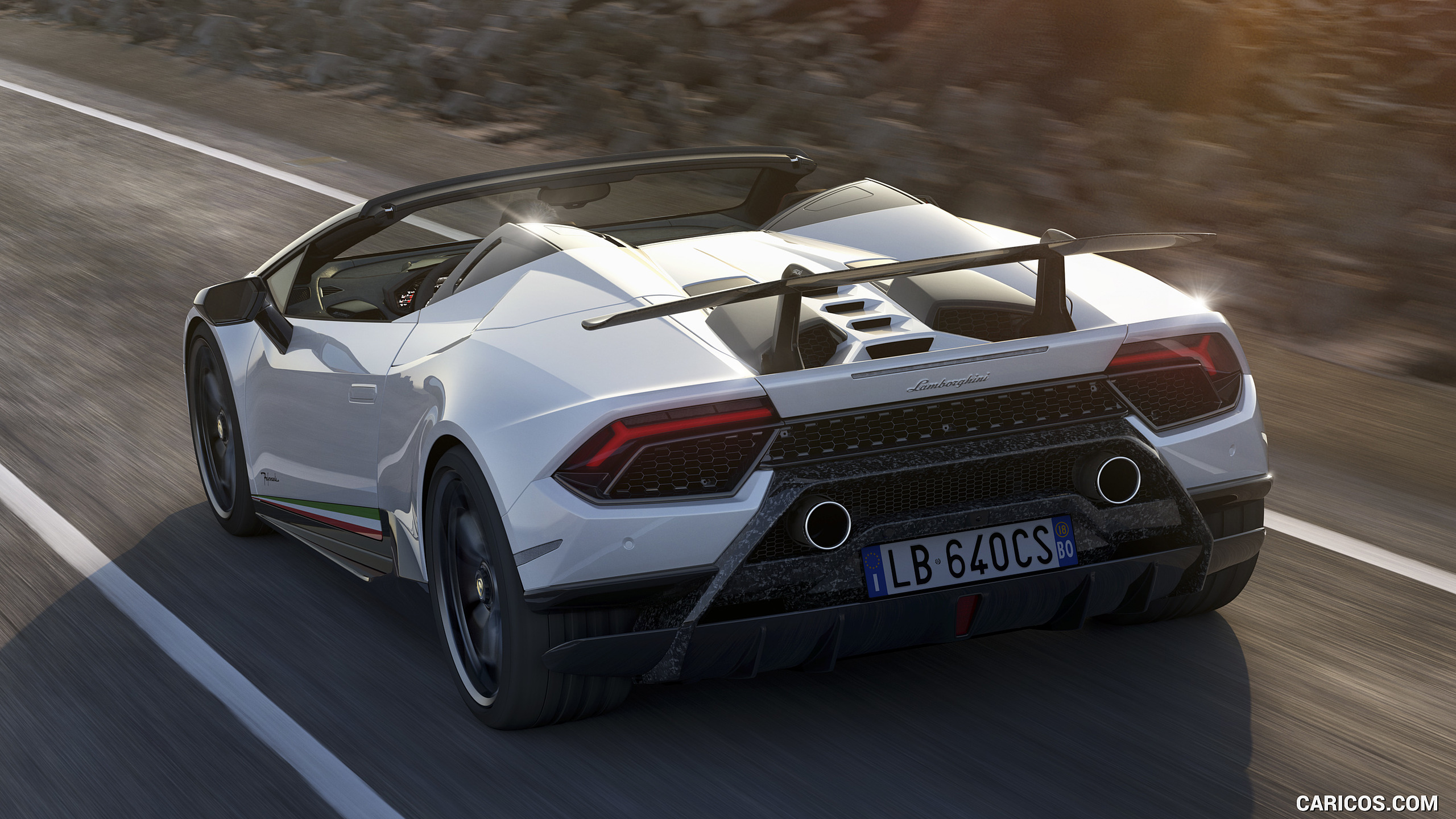 2019 Lamborghini Huracn Spyder Performante   Rear HD Wallpaper 8 2560x1440