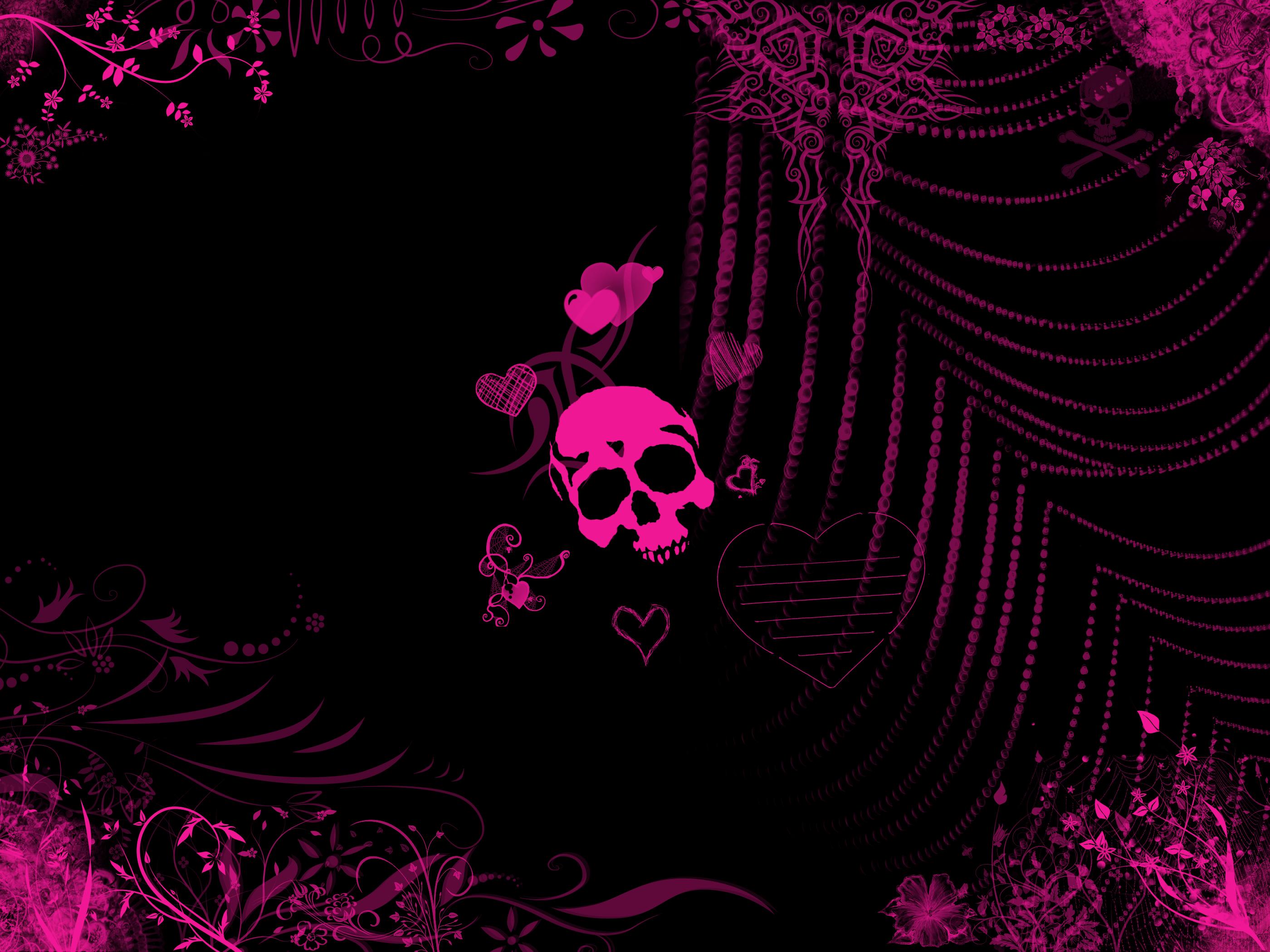 Girly Skull Wallpaper Related wallpaper for pink emo 2800x2100