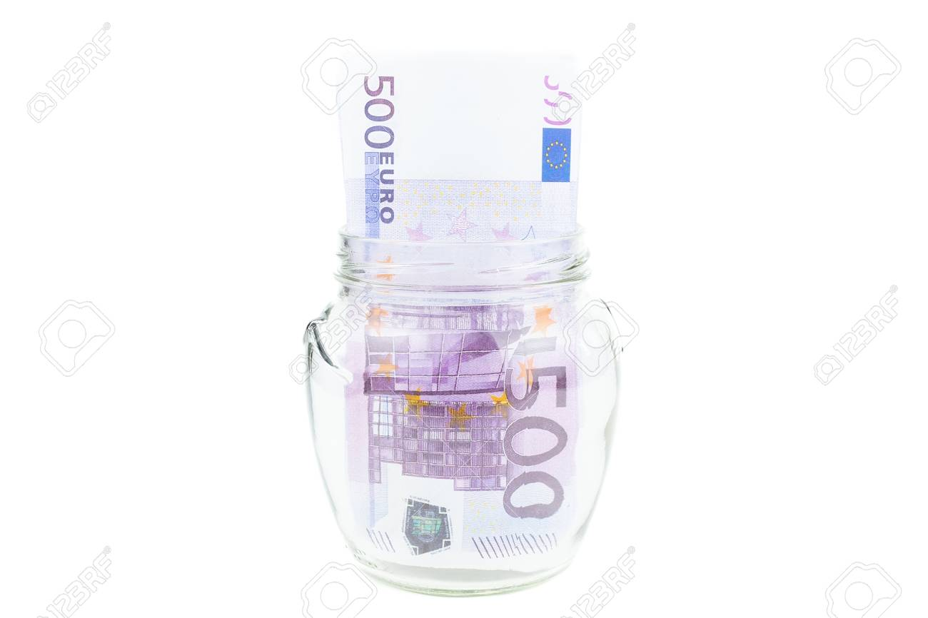 Euros Saved In A Glass Jar On A White Background Concept To Save 1300x866