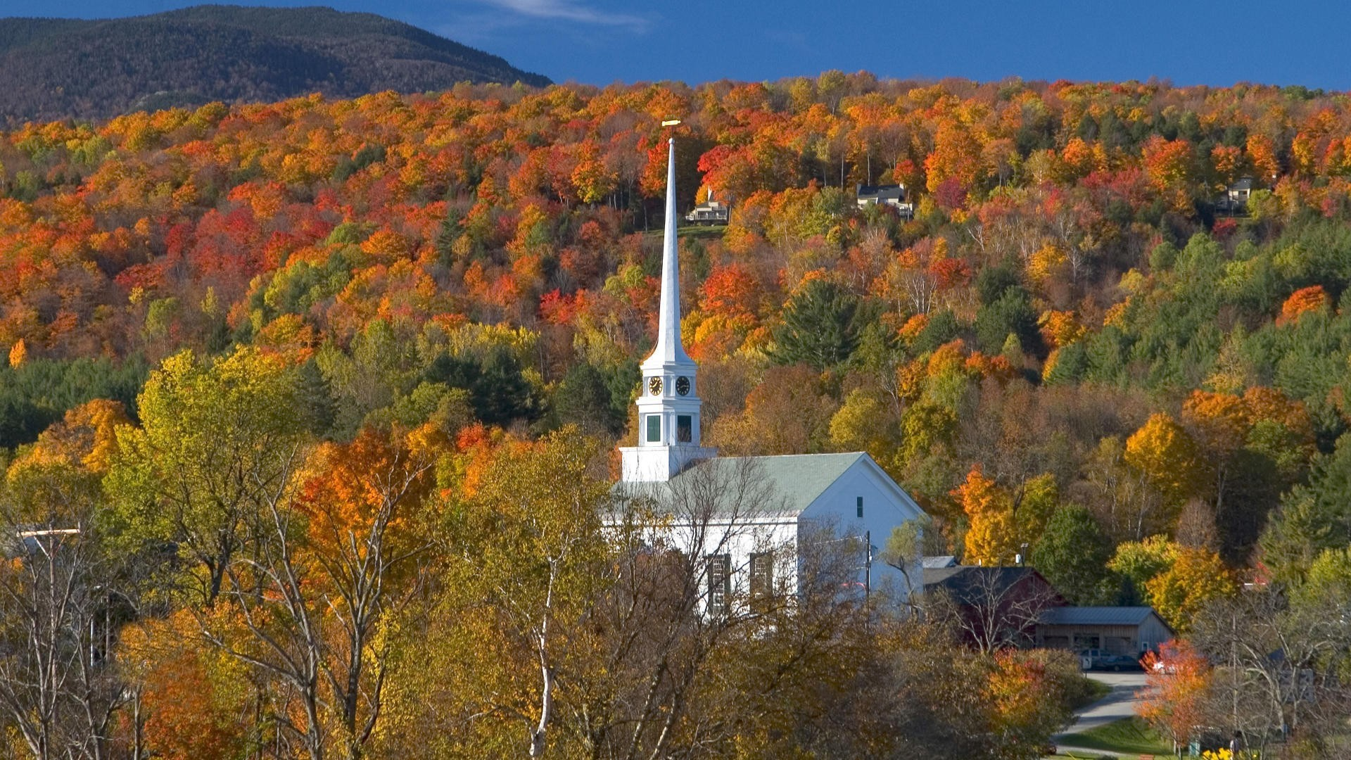 church in stowe vermont wallpaper 426266
