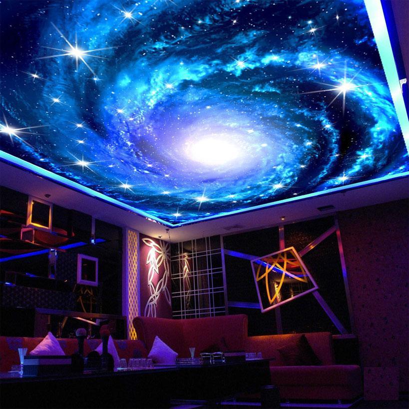 Compre Custom 3D Photo Wallpaper Galaxy Star Techo Fresco Arte De 819x819